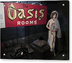 Oasis Bordello Basement - Wallace Idaho Acrylic Print by Daniel Hagerman