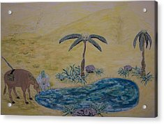 Oasis In The Desert Of My Mind Acrylic Print by Timothy  Foley