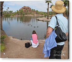 Acrylic Print featuring the digital art Oasis by Leslie Hunziker