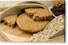 Oatmeal Raisin Cookie Acrylic Print by Rob Outwater