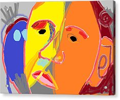 Obama 2 Acrylic Print by Anita Dale Livaditis