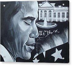 Obama Acrylic Print by Alonzo Butler
