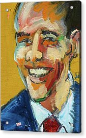 Obama Acrylic Print by Les Leffingwell