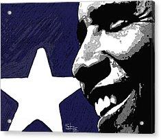Obama Acrylic Print by Patrizio Farinacci