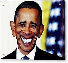 Obamacaricature Acrylic Print by Anthony Caruso