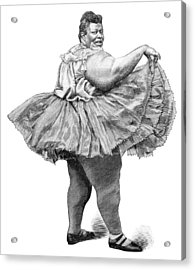 Obese Woman, 19th Century Acrylic Print by