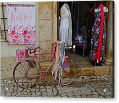 Acrylic Print featuring the photograph Obidos Portugal Street Scene by Kirsten Giving