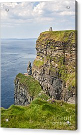 O'brien's Tower At Cliffs Of Moher Acrylic Print by Cheryl Davis