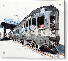 Acrylic Print featuring the painting Observation Car by Terry Banderas