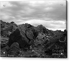 Acrylic Print featuring the photograph Obsidian Field by John Burns