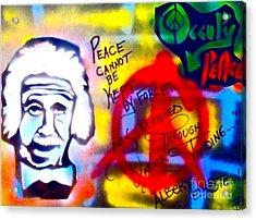 Occupy Einstein Acrylic Print by Tony B Conscious