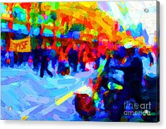 Occupy Sf In Abstract Acrylic Print by Wingsdomain Art and Photography