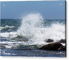 Acrylic Print featuring the photograph Ocean Blast by Christine Drake