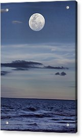 Ocean Moon Acrylic Print by Douglas Barnard