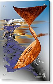 Acrylic Print featuring the digital art Ocean Of Time And Space by Leo Symon