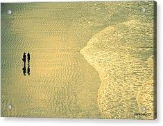 Ocean Of Words Acrylic Print by Paulo Zerbato
