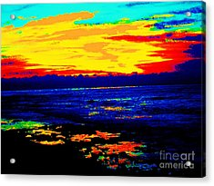 Acrylic Print featuring the photograph Ocean Sunset by Jasna Gopic