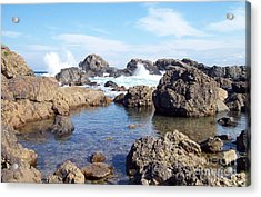 Ocean Tide On The Rocks Acrylic Print