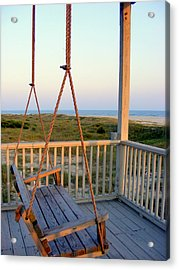 Acrylic Print featuring the photograph Ocean View At Oak Island Nc by Kelly Nowak