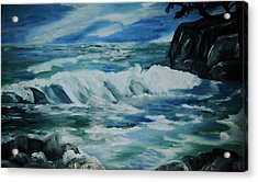 Acrylic Print featuring the painting Ocean Waves by Christy Saunders Church