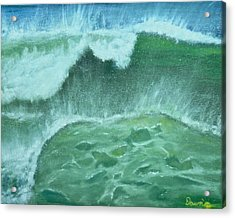 Ocean's Green Acrylic Print by Dawn Harrell