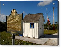 Ochopee Post Office Acrylic Print by David Lee Thompson