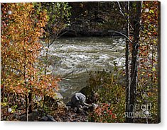 Ocoee River Rapids Acrylic Print by Margaret Palmer
