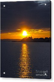 October Connecticut Sunset Acrylic Print by Cindy Lee Longhini