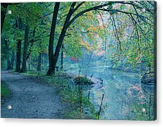 October Mist Acrylic Print by Mandi Howard
