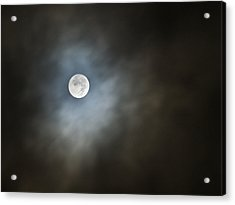 October Moon Acrylic Print by Steve Sperry