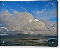 Acrylic Print featuring the photograph October Rainbow In Maui by Kirsten Giving