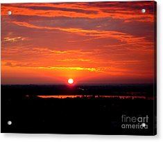 October Sunrise Acrylic Print by Marilyn Magee