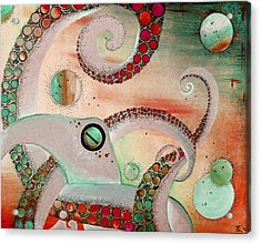 Octopus Tangle Acrylic Print by Adrienne McMahon