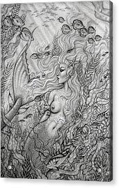Octopus's Garden Acrylic Print by Leon Atkinson