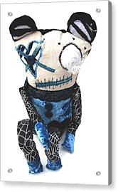Oddling Bax The Zombie Acrylic Print by Oddball Art Co by Lizzy Love