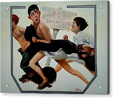 Ode To Norman Rockwell Acrylic Print