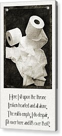Ode To The Spare Roll Acrylic Print by Andee Design