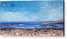 Odiorne Beach Park Nh Acrylic Print by Michel Croteau