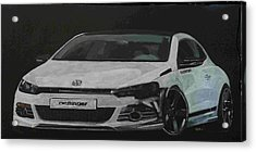 Acrylic Print featuring the painting Oettinger Vw Scirocco  by Richard Le Page