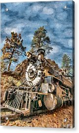 Of Mountain And Machine Acrylic Print by Jeff Kolker
