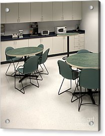 Office Break Room Acrylic Print by Will & Deni McIntyre