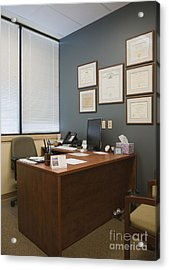 Office Space Acrylic Print by Andersen Ross