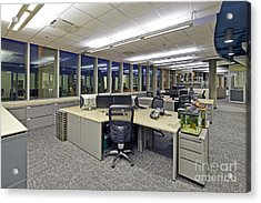 Office Work Stations Acrylic Print by Francis Zera