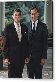 Official Portrait Of President Reagan Acrylic Print by Everett
