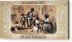 Oh Carry Me Back To Ole Virginny, 1859 Acrylic Print by Photo Researchers