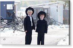 Oh So Cute Amish Boys Acrylic Print