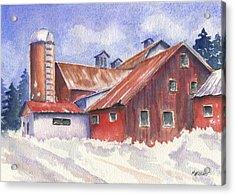 Ohio Barn Acrylic Print by Marsha Elliott