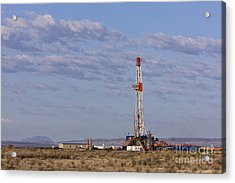 Oil Exploration Drill Acrylic Print by Jeremy Woodhouse