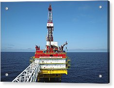 Oil Production Rig, Baltic Sea Acrylic Print by Ria Novosti