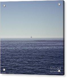 Oil Rig On Ocean Acrylic Print by Eddy Joaquim